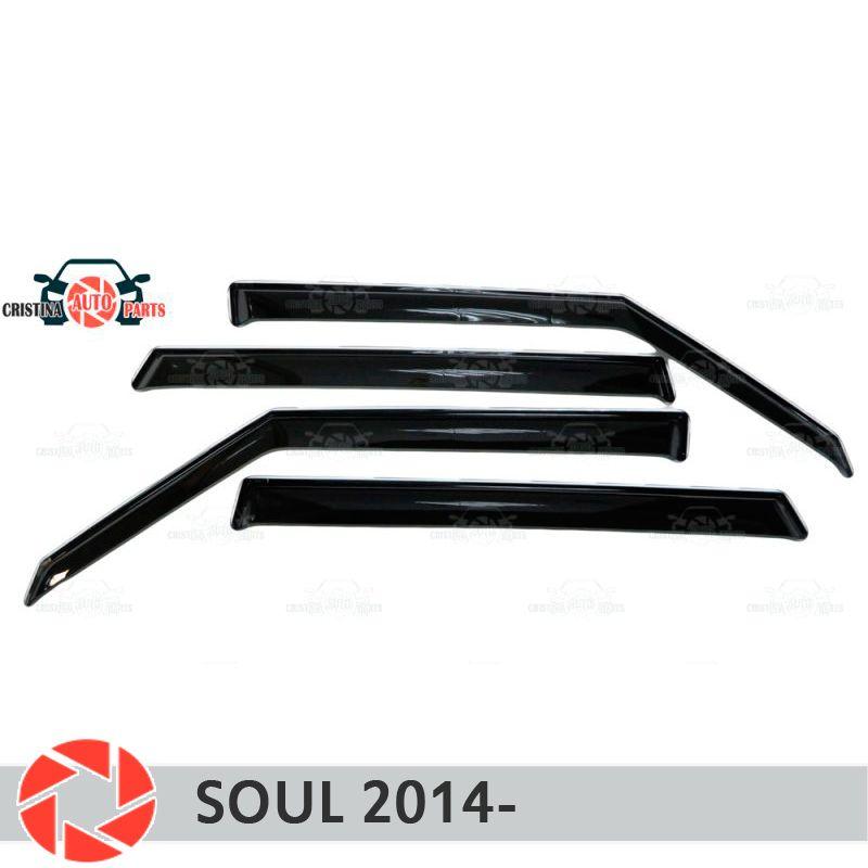 Fenster deflektor für Kia Seele 2014-regen deflektor schmutz schutz auto styling dekoration zubehör molding