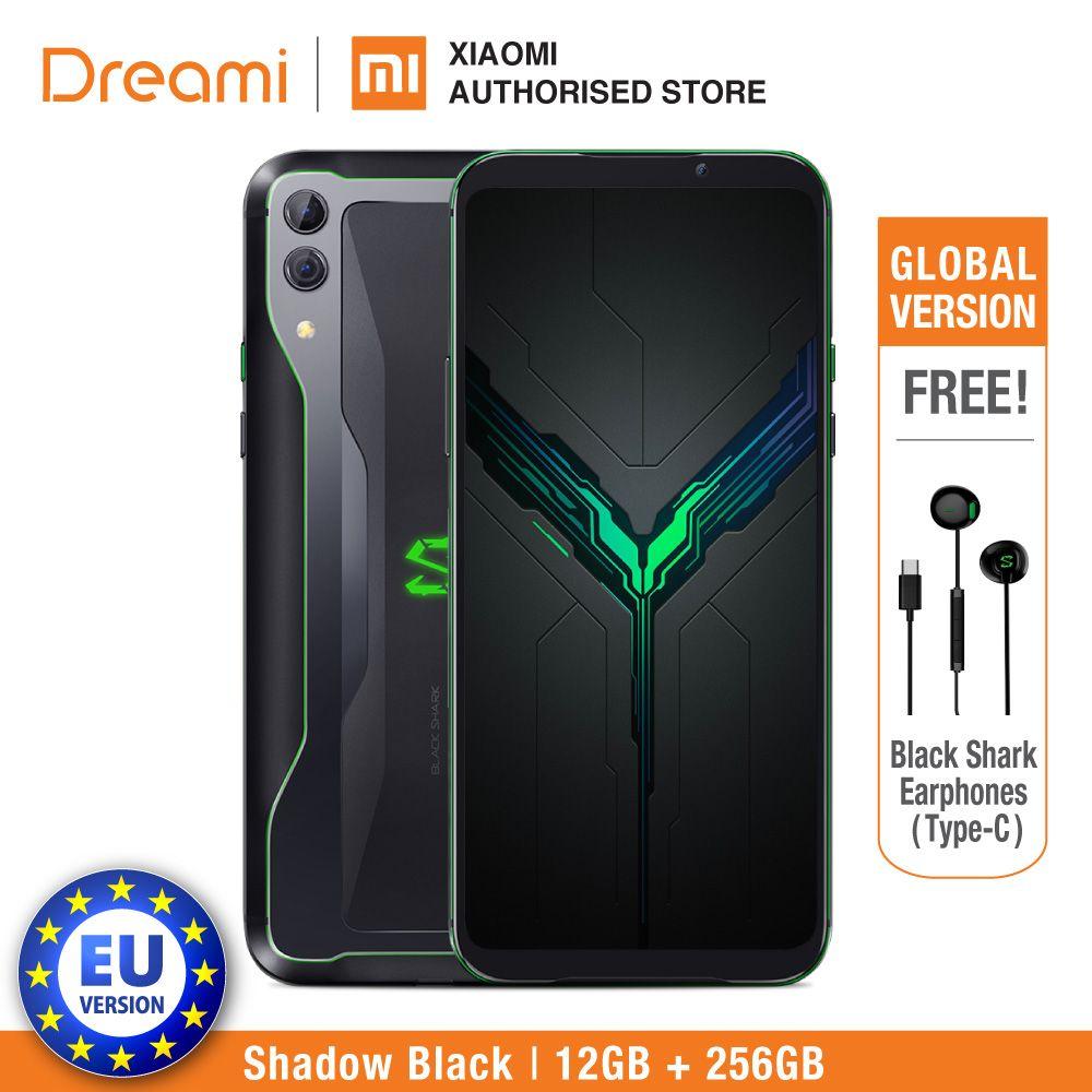 EU Version Schwarz Shark 2 256GB Rom 12GB Ram (Marke Neue und Versiegelt Box) Original
