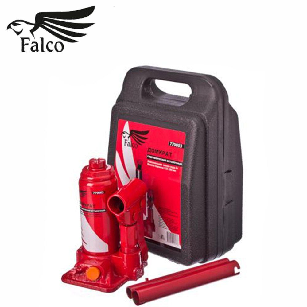 JACK DOMKRAT FALCO hydraulische flasche 3 t in die fall heben höhe 158-308mm messer hohe qualität rabatt verkäufe messer 770-069