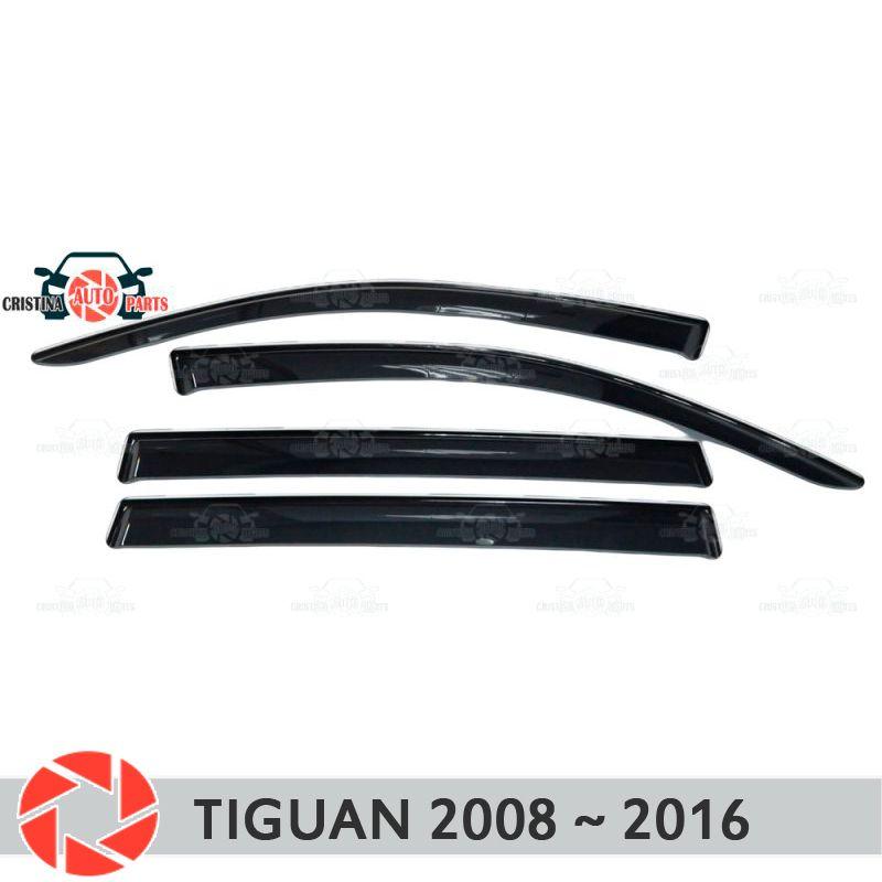 Fenster deflektor für Volkswagen Tiguan 2008-2016 regen deflektor schmutz schutz auto styling dekoration zubehör molding