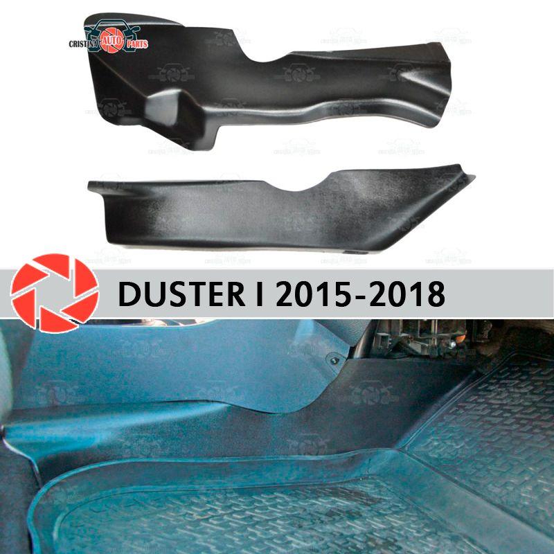 Schutz platte abdeckung von inneren tunnel für Renault Duster 2010-2018 unter füße trim zubehör schutz teppich auto styling