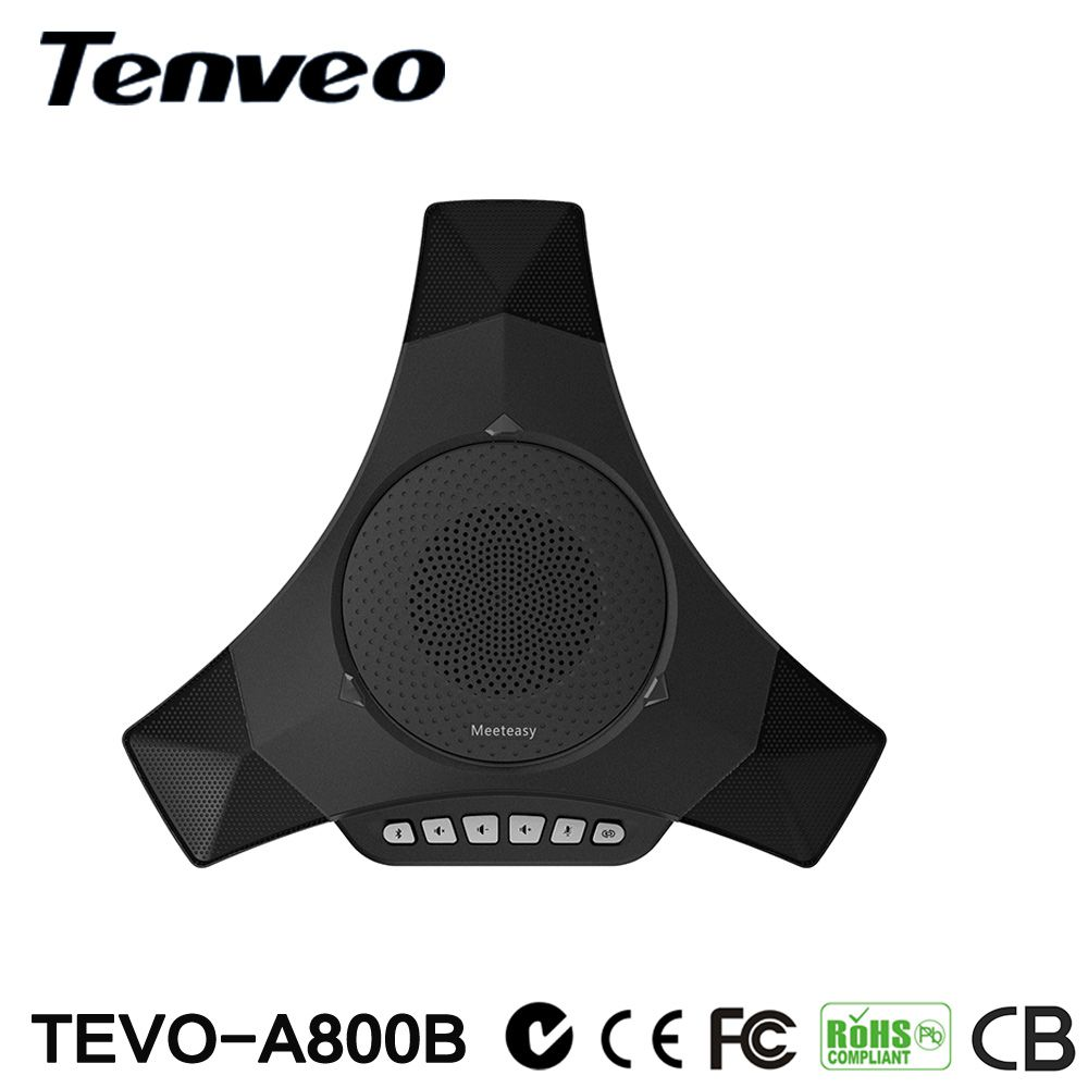 Tenveo A800B Portable Wireless Bluetooth Microphone Video Conference Speaker Built-in 3 omni-directional microphone 5M Pick up