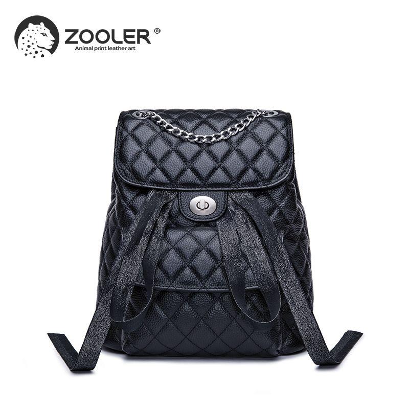 ZOOLER Marke leder taschen wo rucksack elegante schwarz mädchen schule rucksack große kapazität frauen taschen reise bolso mujer # LT202