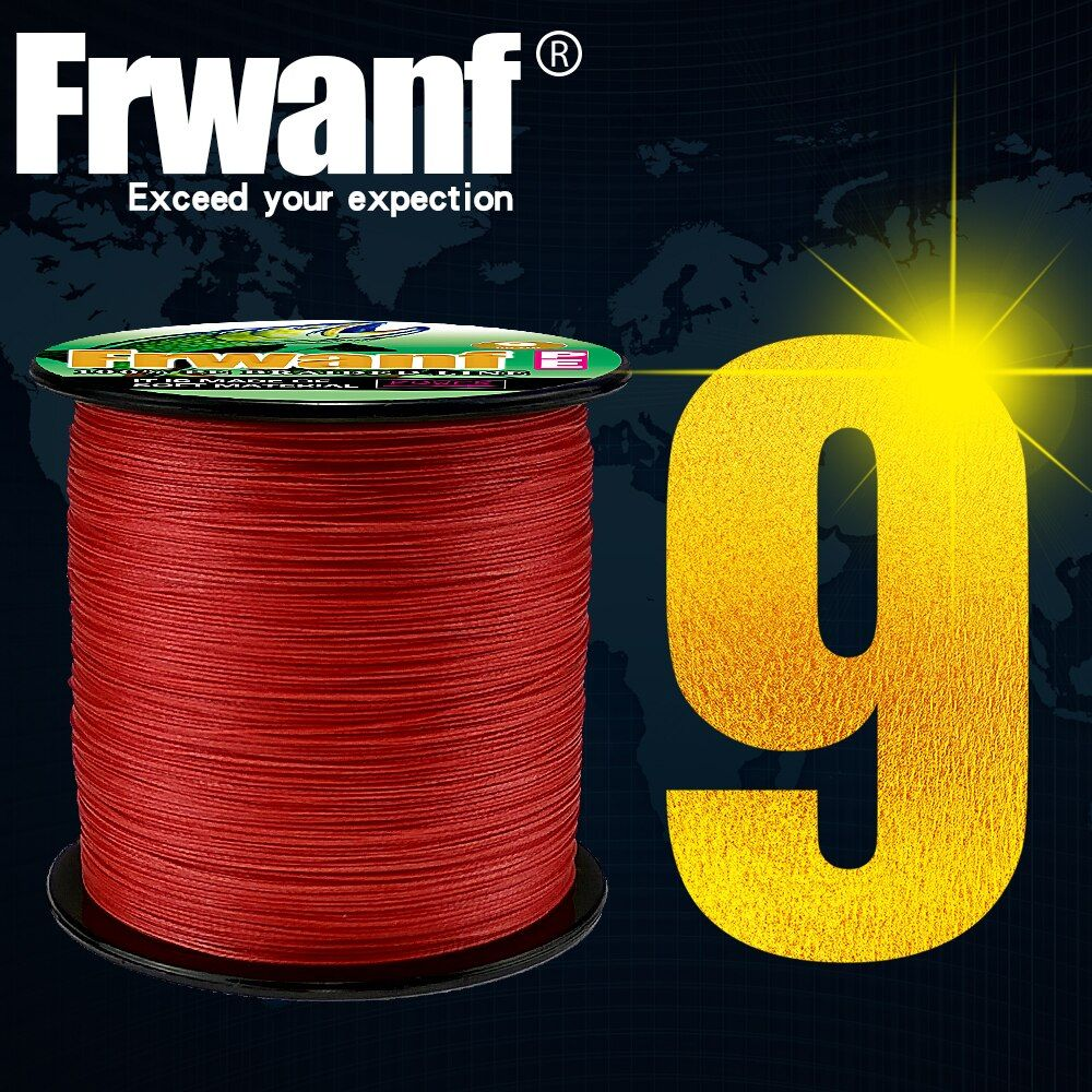 Frwanf 300M 9 Strands PE Braided Fishing Line Super Strong Strength Rope 9 Strand Multifilament Carp Fishing Line 15-110LB