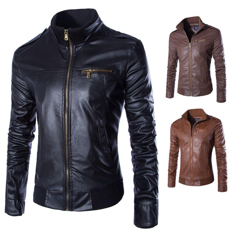 Lasperal новые мотоциклетные Кожаные куртки Для мужчин одноцветное Бизнес повседневные пальто осень-зима кожа Костюмы Курточка бомбер для муж...