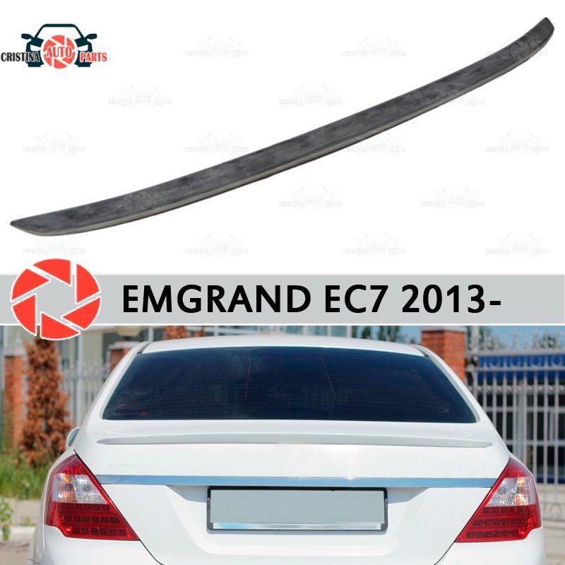 Lip spoiler für Geely Emgrand EC7 2013-kunststoff ABS dekoration stamm tür zubehör schutz auto styling