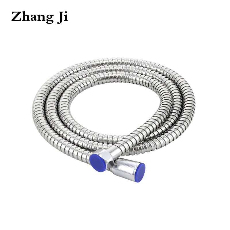 ZhangJi 1.5m shower head Plumbing Hose Stainless Steel Shower Head Pipe Bathroom Accessory Replacement Flexible Water Pipe