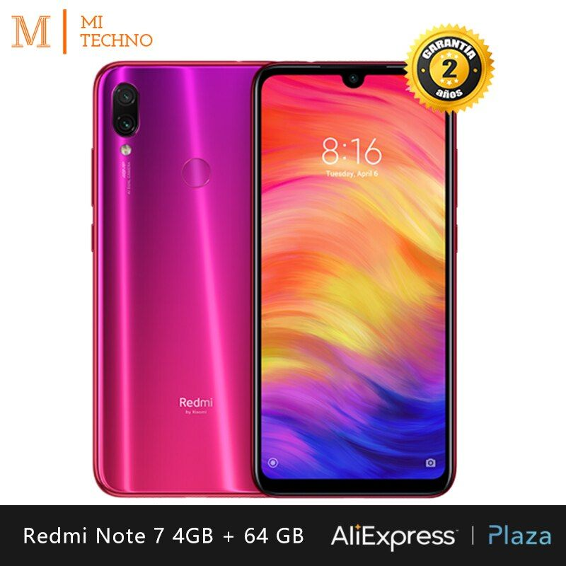 [Version globale] Xiaomi Redmi Note 7 Smartphone HD+ 6.3(RAM 4 Go + ROM 64 Go, batterie 4000 mAh, appareil photo 48MP)