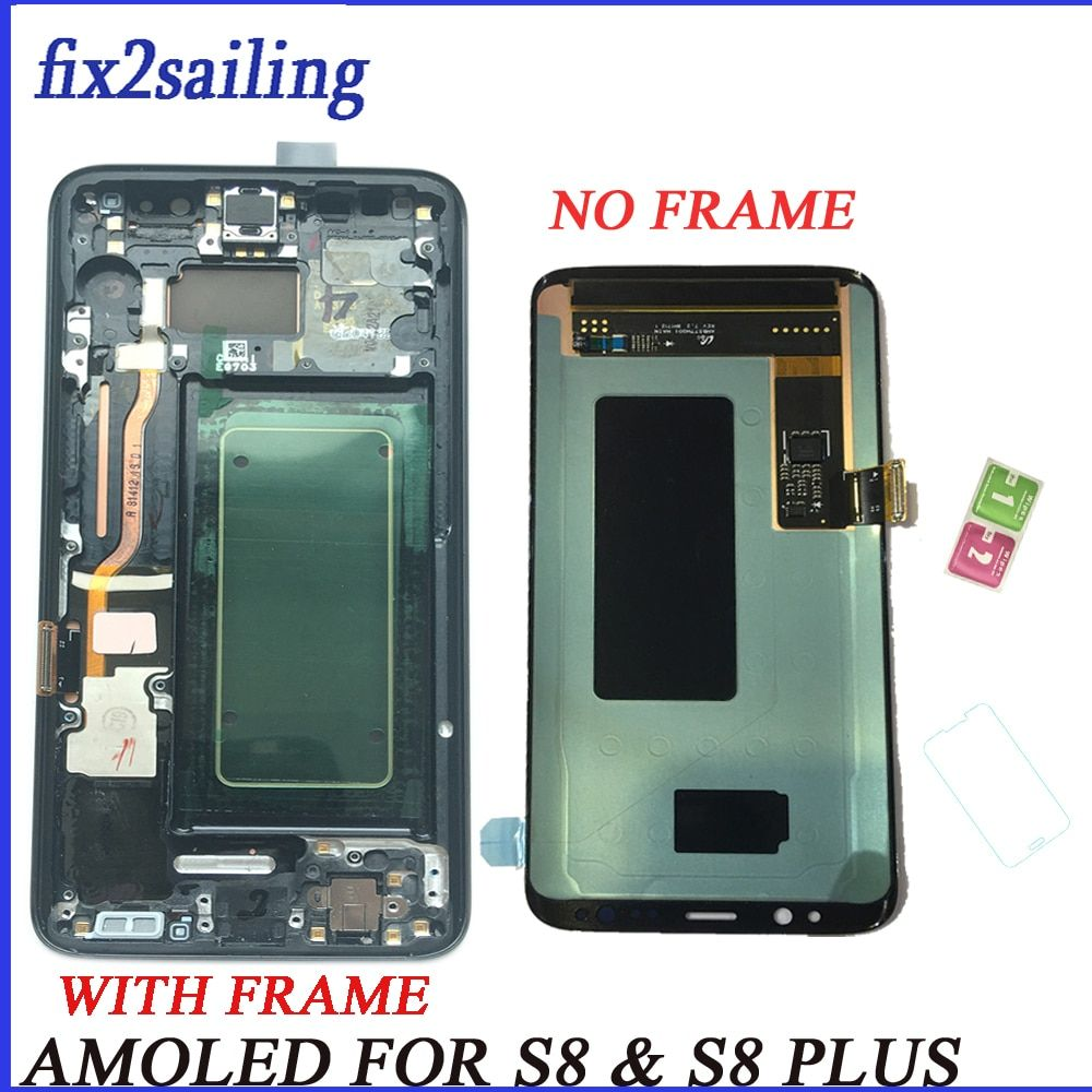 Super Amoled Lcd Display For samsung galaxy s8 screen replacement lcd Digitizer S8plus lcd display G950F G955 G955F G950FD