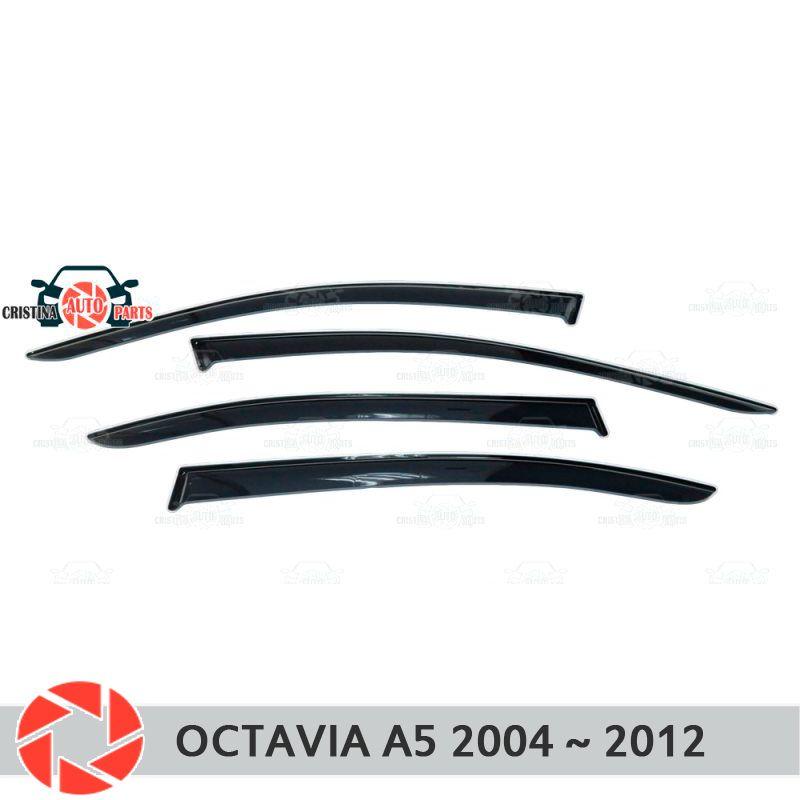 Fenster deflektor für Skoda Octavia A5 2004 ~ 2012 regen deflektor schmutz schutz auto styling dekoration zubehör molding