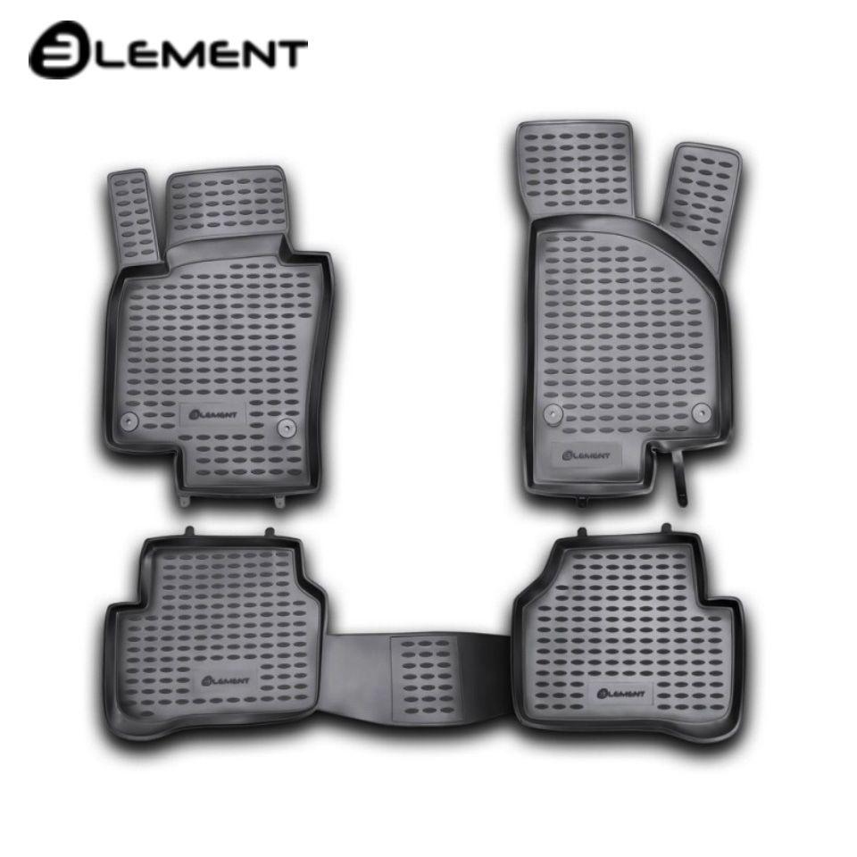 Für Volkswagen Passat B6 2005-2010 boden matten in saloon 4 teile/satz Element NLC5106210kh