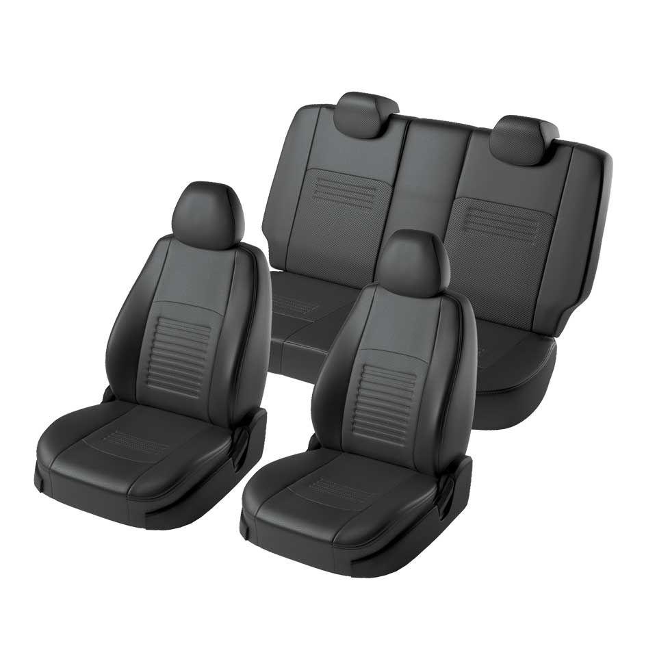 Für Ford Focus 2 2004-2010 Ambiente/Trend spezielle sitzbezüge ohne hinten armlehne Modell Turin eco- leder