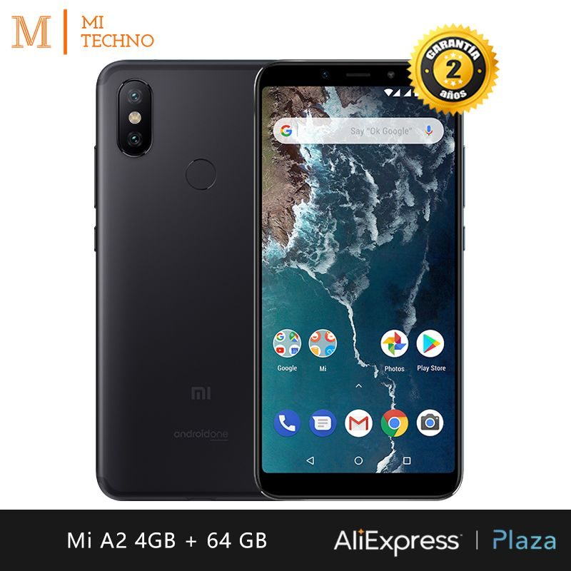 [Mondial Version] Xiao mi mi A2 Smartphone 5.99 FHD + (4 GB RAM + 64 GB ROM, dual SIM, Double Caméra 12 + 20 MP, Android Un *)