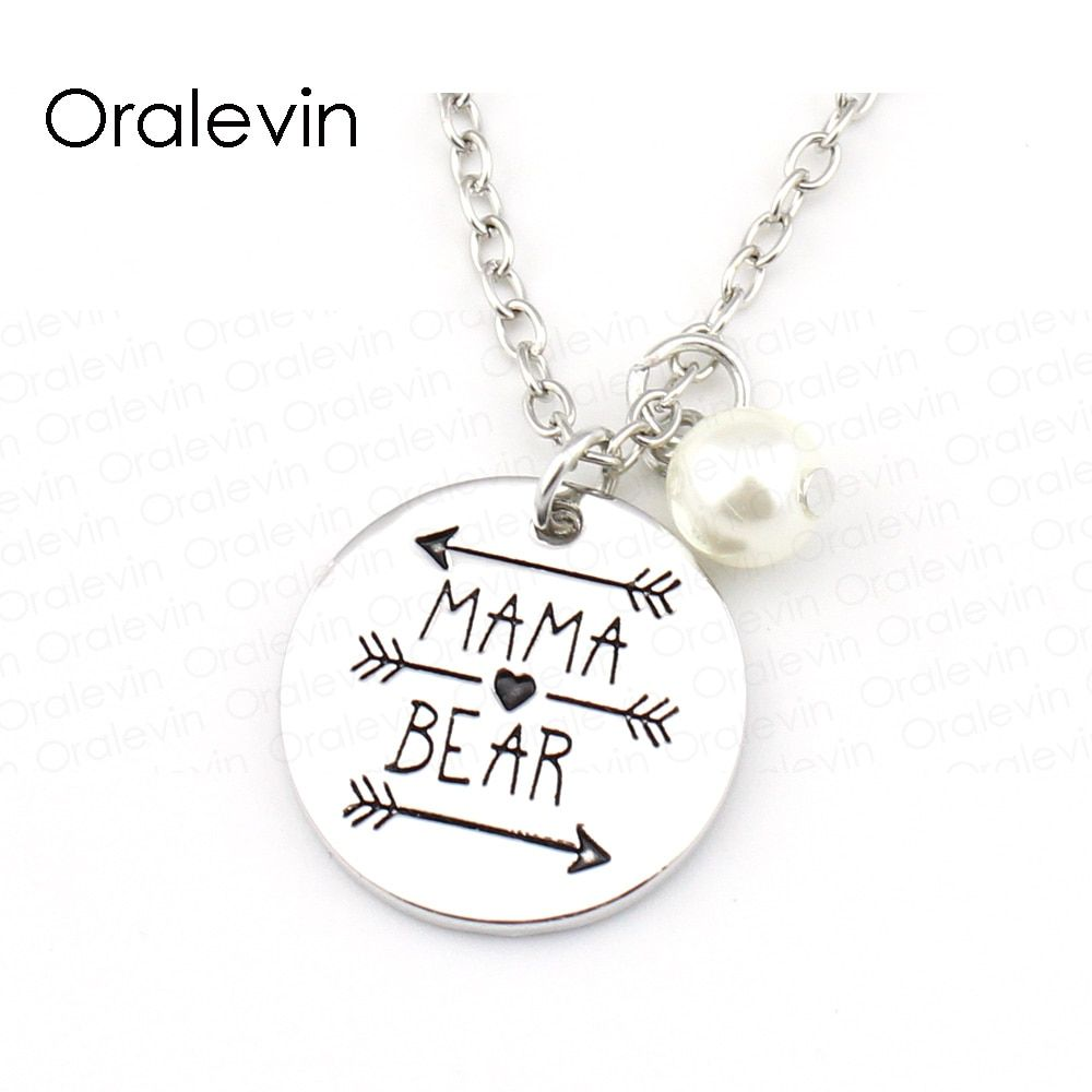 МАМА МЕДВЕДЬ Цепочки и ожерелья День матери изделия # ln1319