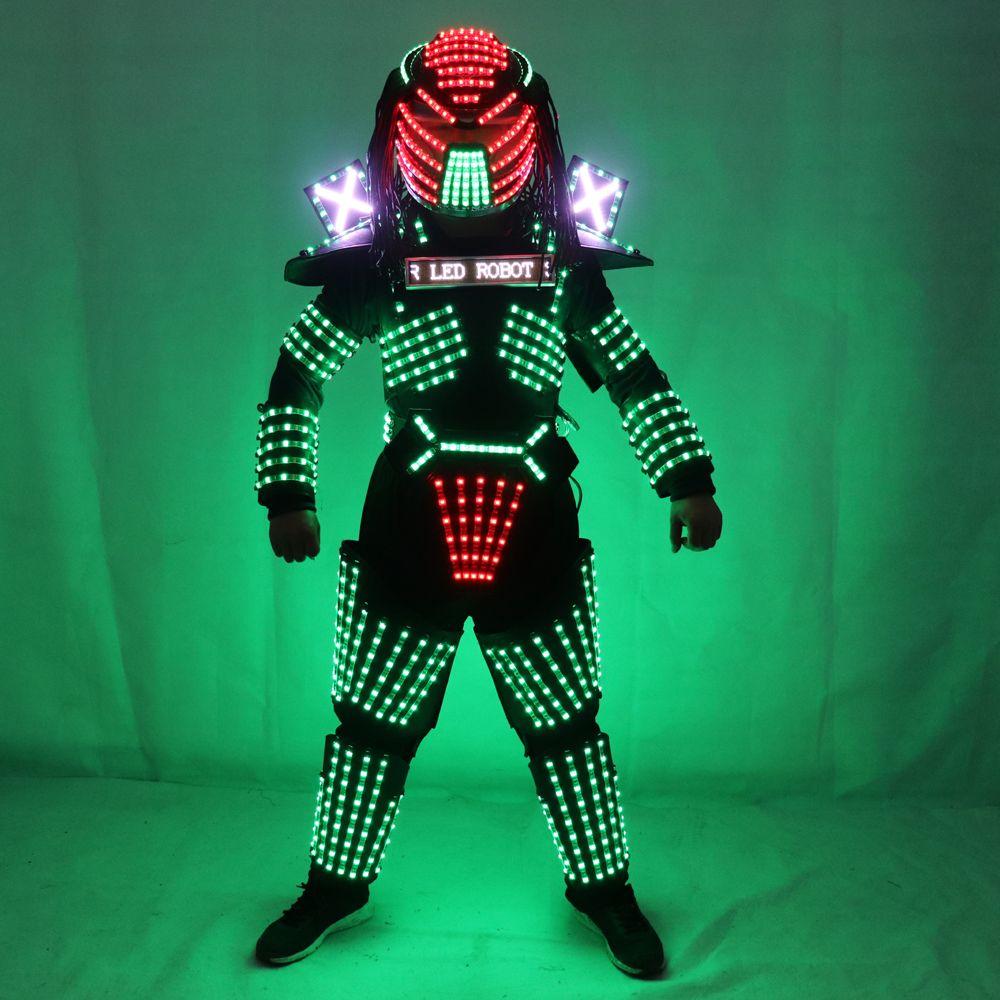 LED-Robot Kostüme Kleidung Led-leuchten Leucht Bühne Dance Performance Zeigen Kleid für Nachtclub
