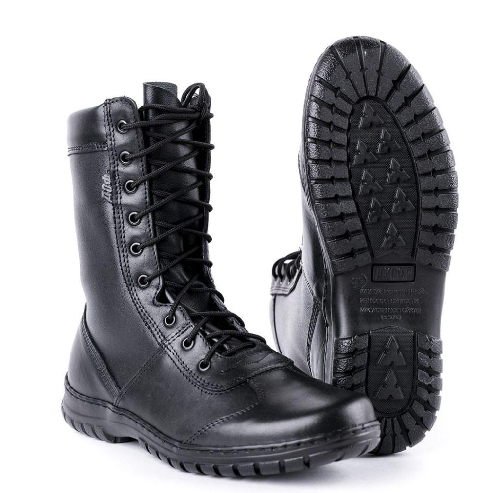 Echtes leder lace-up schwarz armee stiefeletten männer hohe schuhe flache military stiefel 5024/11 WA