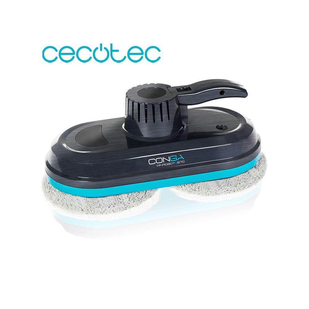 Cecotec Smart Fenster Reiniger Conga WinDroid 870 AI Berechnet die Richtige Route 3 Automatische Reinigung Programme mit Fernbedienung