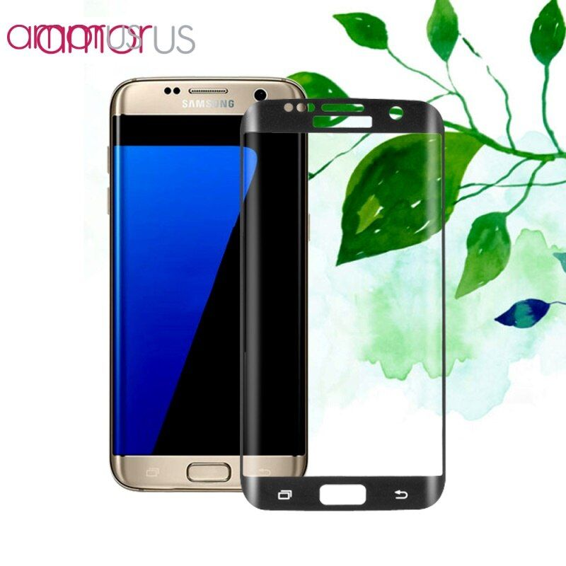 AMORUS for Galaxy S7edge G935 Tempered Glass Silk Print Full Size Curved Screen Film for Samsung Galaxy S 7 Edge
