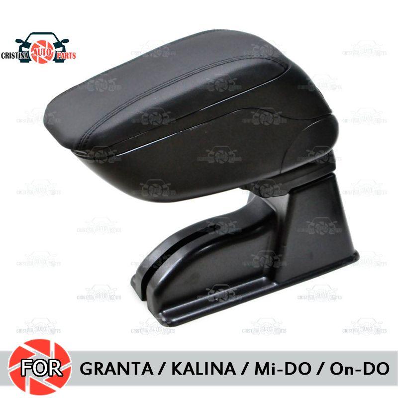 Für Lada Granta/Kalina/Datsun Mi-Tun Auf-Tun auto armlehne zentrale konsole leder lagerung box aschenbecher zubehör auto styling