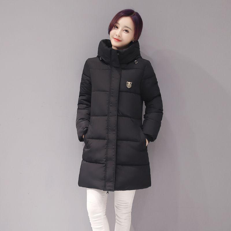 Neue Ankunfts-beiläufige Warme Langarm Damen Grundlegende Mantel Jacke Frauen Parkas Baumwolle Frauen Winterjacke