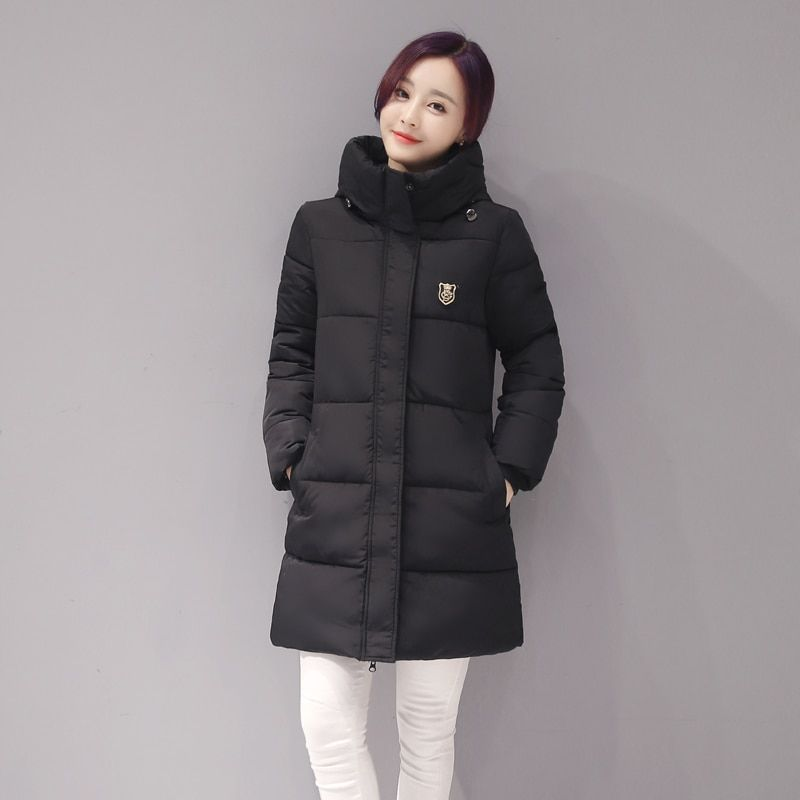New Arrival Casual Warm Long Sleeve Ladies Basic Coat Jacket Women Parkas Cotton Women Winter Jacket