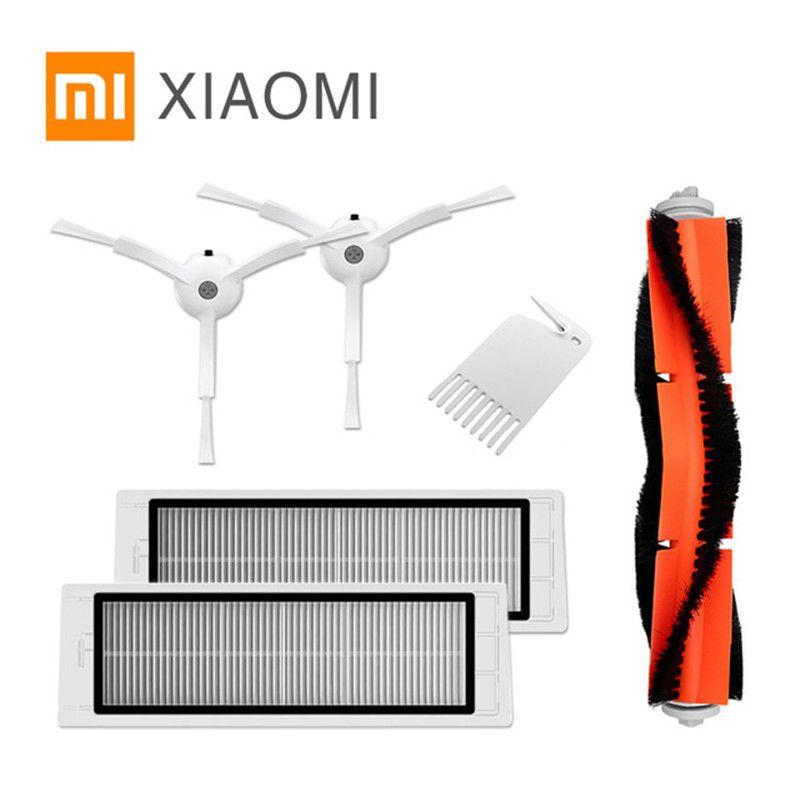 Emballage d'origine Partie Pack pour Xiaomi Robot Aspirateur 2 roborock Pièces De Rechange Kits Brosses Latérales HEPA Filtre Rouleau brosse