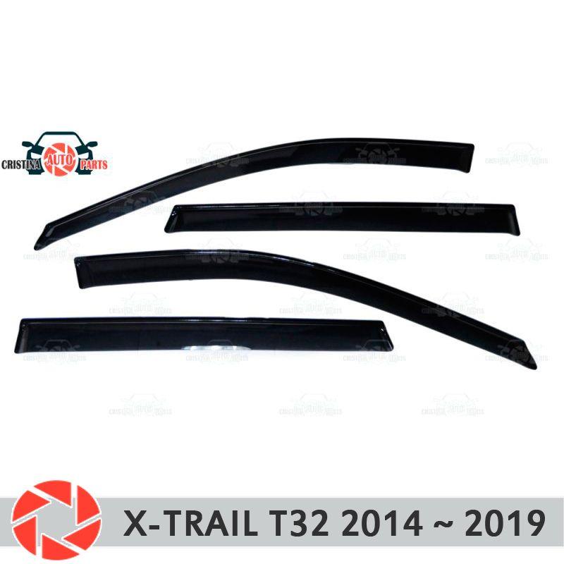 Fenster deflektor für Nissan X-Trail T32 2015-2019 regen deflektor schmutz schutz auto styling dekoration zubehör molding