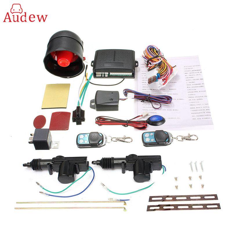 360 Degree Universal Car Remote Control Central Locking System Kit Car Security Alarm Immobiliser Shock Sensor for 2 Doors