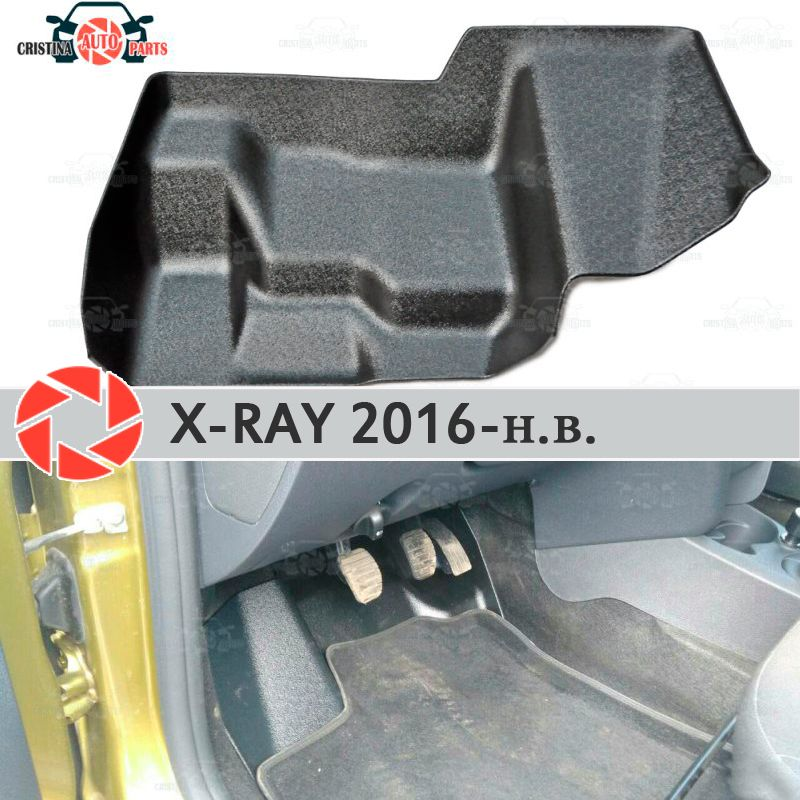 Pad unter die gas pedale für Lada X-Ray 2016-2019 abdeckung unter füße zubehör schutz dekoration teppich auto styling