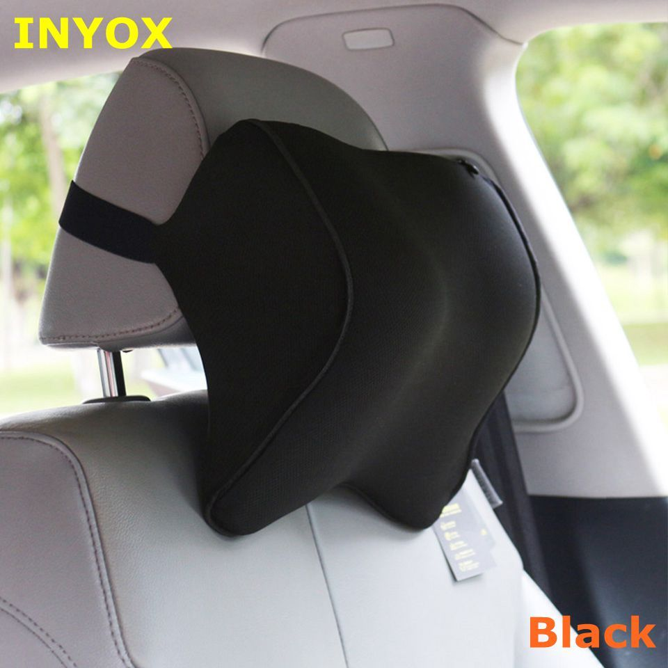 S1 appui-tête voiture cou oreiller siège lombaire oreiller en auto dos repose-tête en mousse à mémoire tissu pour chaise voyage soutien housses de coussin