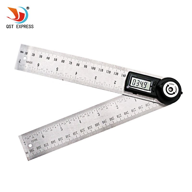 QSTEXPRESS 2 IN 1 digital <font><b>angle</b></font> ruler 360 degree 200mm electronic digital <font><b>angle</b></font> meter <font><b>angle</b></font>