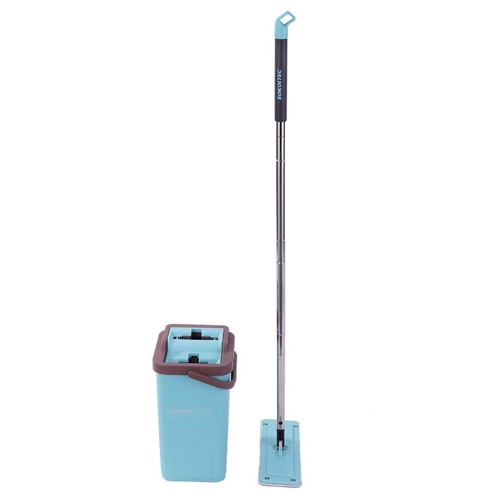 SOKOLTEC Spray Magie Automatische Spin Mopp Vermeiden Hand Waschen Ultrafeinen Faser Reinigung Tuch Faul Kolleginnen Mopp Holzboden