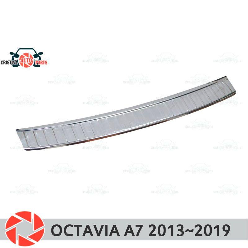 Platte abdeckung hinten stoßstange für Skoda Octavia A7 2013 ~ 2018 schutz platte auto styling dekoration zubehör form stempel