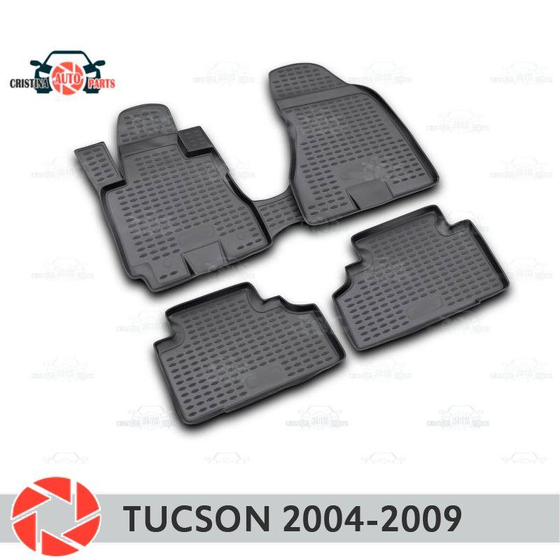 Boden matten für Hyundai Tucson 2004-2009 teppiche non slip polyurethan schmutz schutz innen auto styling zubehör