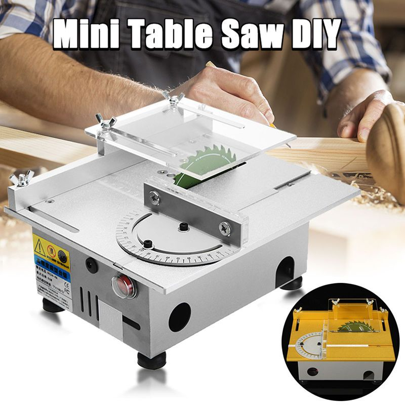 Mini Woodworking Table Saw DC 12-24V 7000RPM Wood Cutting Machine DIY Model Carpentry Circular Saws Gold/Silver