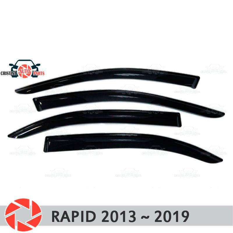Fenster deflektor für Skoda Schnelle 2013 ~ 2018 regen deflektor schmutz schutz auto styling dekoration zubehör molding