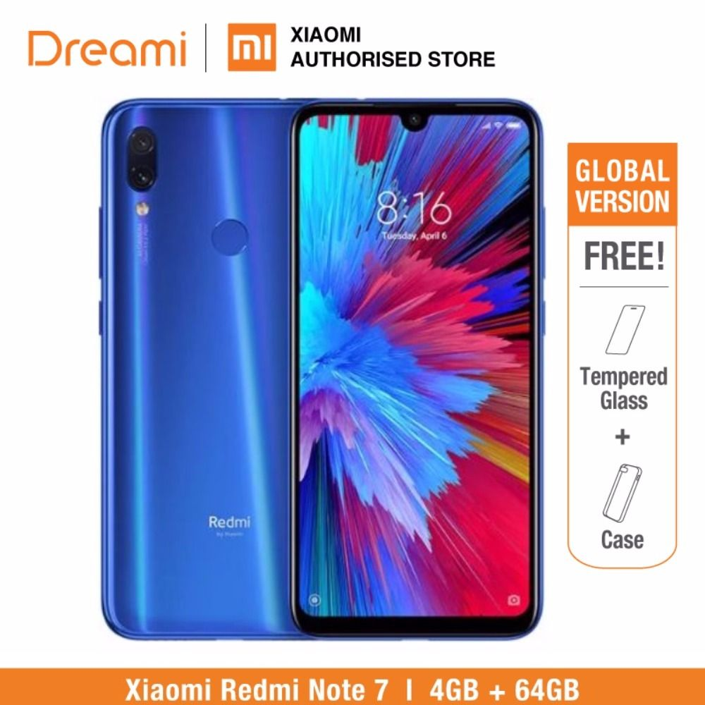 Global Version Redmi Note 7 64GB ROM 4GB RAM (Brand New and Sealed Box) OFFICIAL Rom, note7 64gb