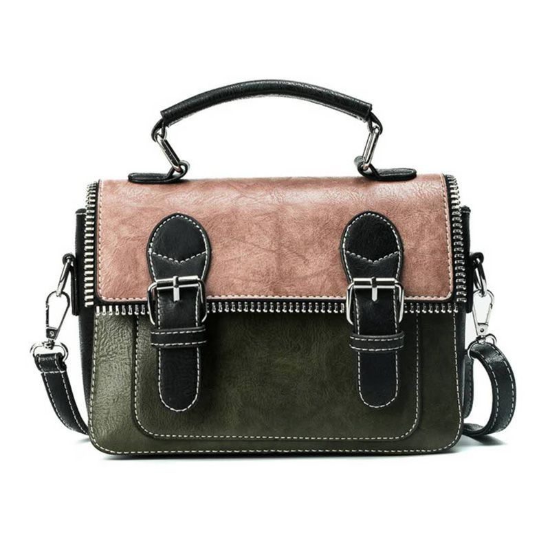 2018 new women's handbag large capacity bag European and American fashion style color Patchwork matching bags