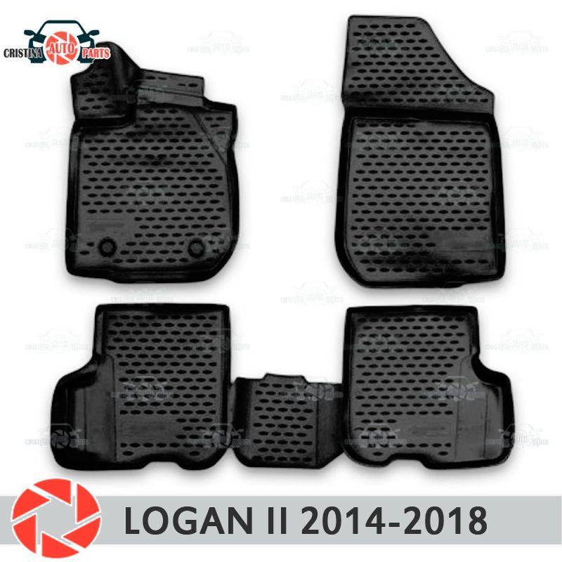 Für Renault Logan 2014-2018 fußmatten teppiche non slip polyurethan schmutz schutz innen auto styling zubehör