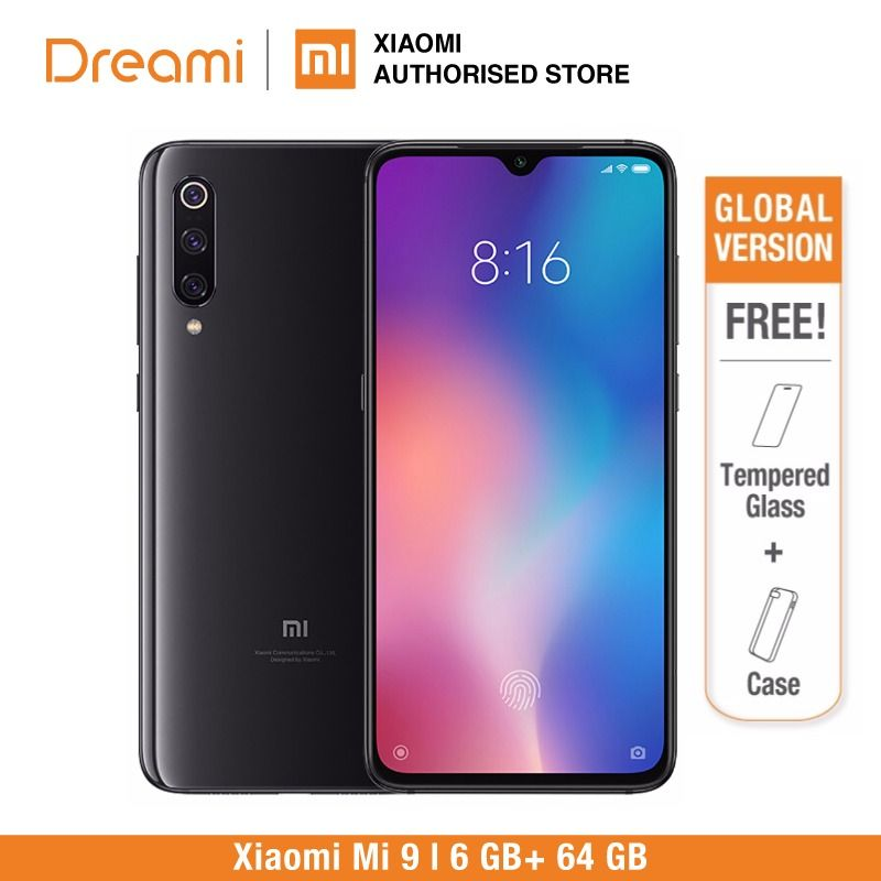 Global Version Xiaomi Mi 9 64GB ROM 6GB RAM (Brand New and Sealed) READY STOCK
