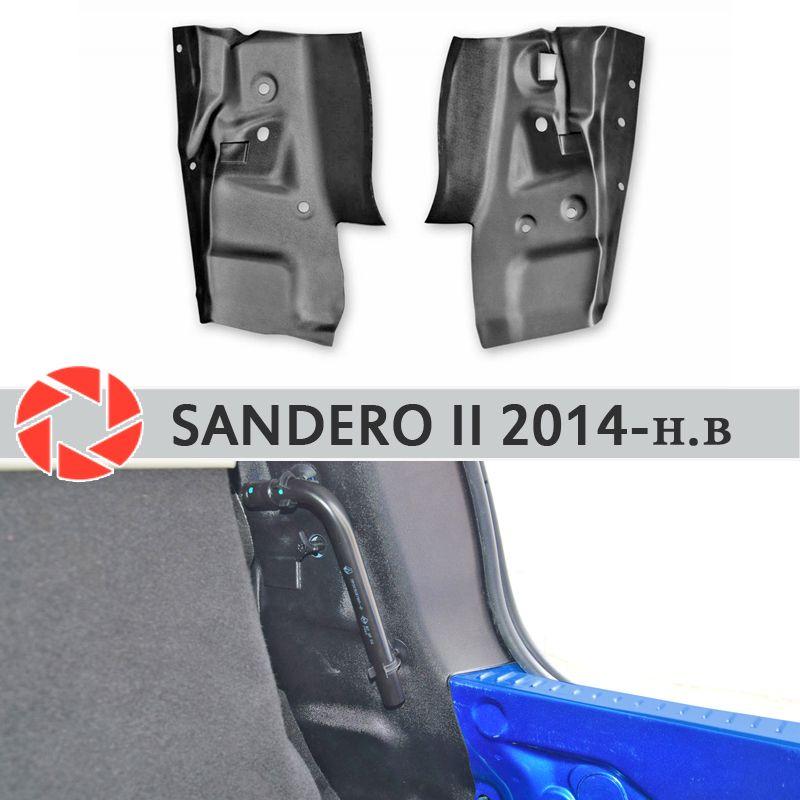Seite abdeckungen in die stamm für Renault Sandero 2014-2019 schwanz licht platte inneren stamm zubehör schutz auto styling decor