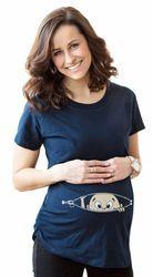 2018 Poche Bébé Pipi un Boo Impression Maternité Chemise Coton Drôle Chemises De Maternité Gravida Top Grossesse Vêtements Pas Cher T-shirts Casual