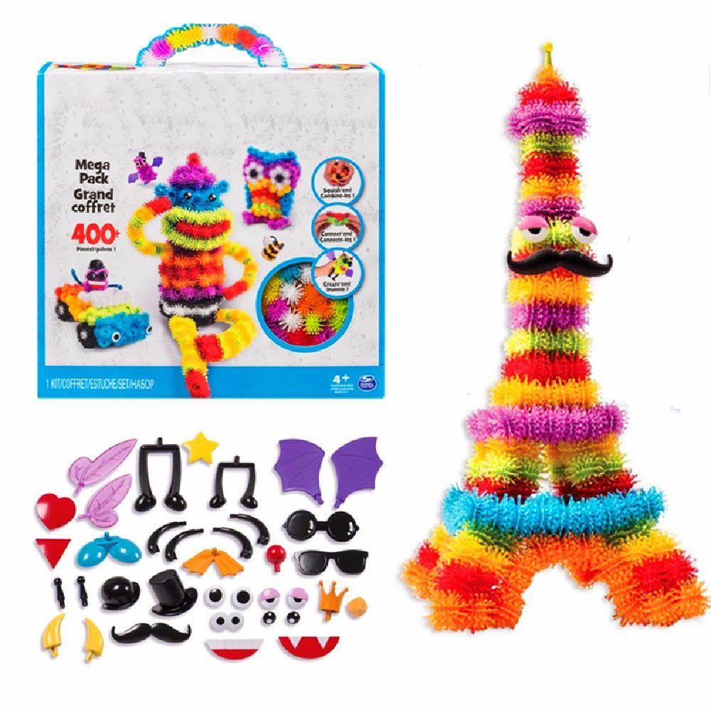 2018 Magic Puffer Ball 400 Pieces 1000 Accessories Build Mega Pack Animals DIY Assembling Spot Best Block Toy Sets For Children