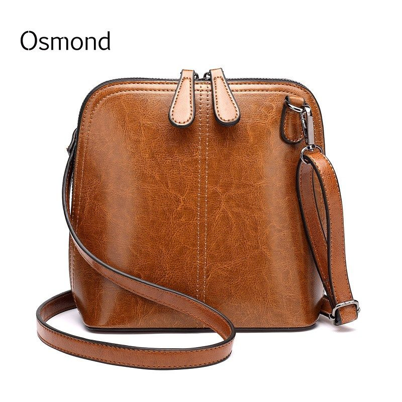 Sac à bandoulière en cuir de cire Osmond Oli rétro petit sac à bandoulière pour femme sac à bandoulière pour femme Mini sacs noir marron Bolsa