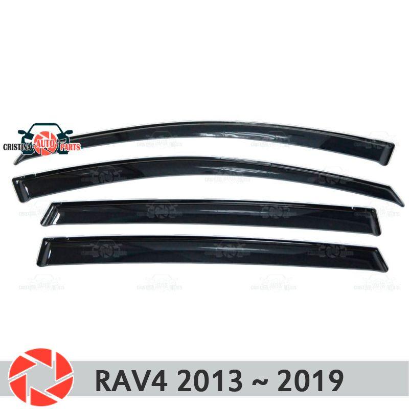 Fenster deflektor für Toyota Rav4 2013 ~ 2019 regen deflektor schmutz schutz auto styling dekoration zubehör molding