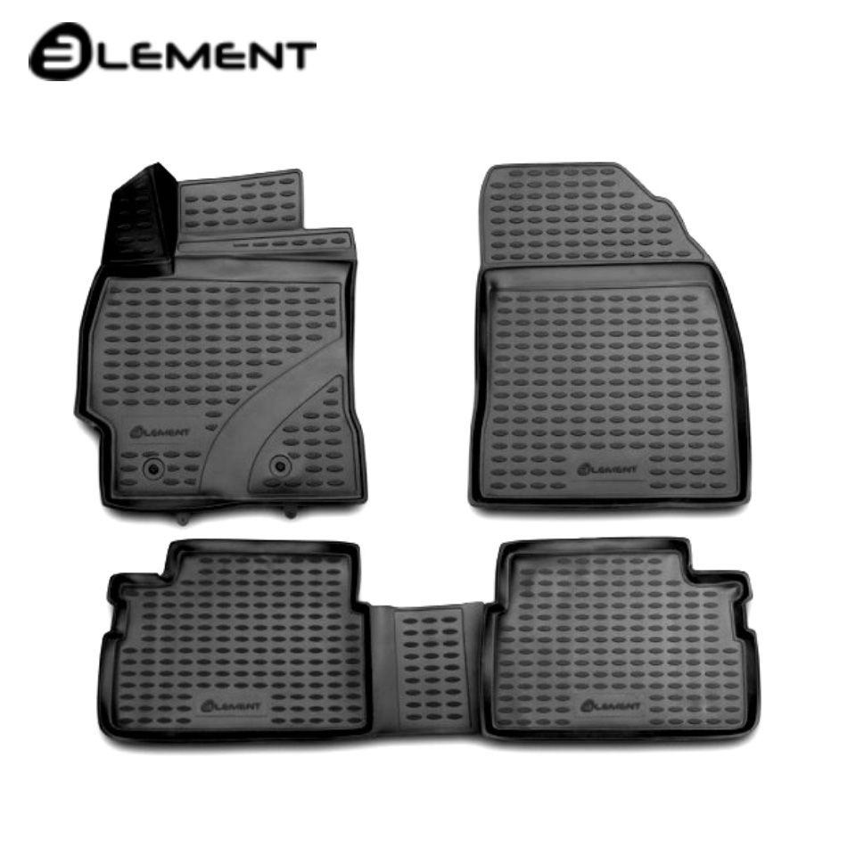 Für Toyota Corolla E150 2007-2013 3D Boden matten in saloon 4 teile/satz Element NLC3D4815210k