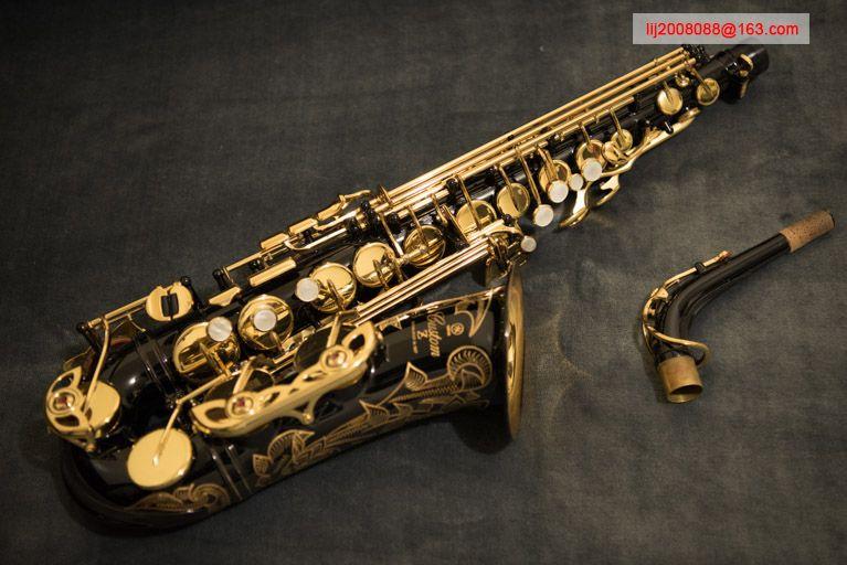 100% original YAS 82ZIIB alto saxophone Black nickel gold 82z super Sax professional Musical instrument Mouthpiece free shipping