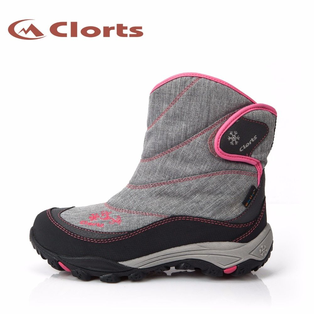 Clorts Women Winter Warming Hiking Boots Nylon Waterproof Inner Snow Boots Rubber Outsole Outdoor Shoes SNBT-203