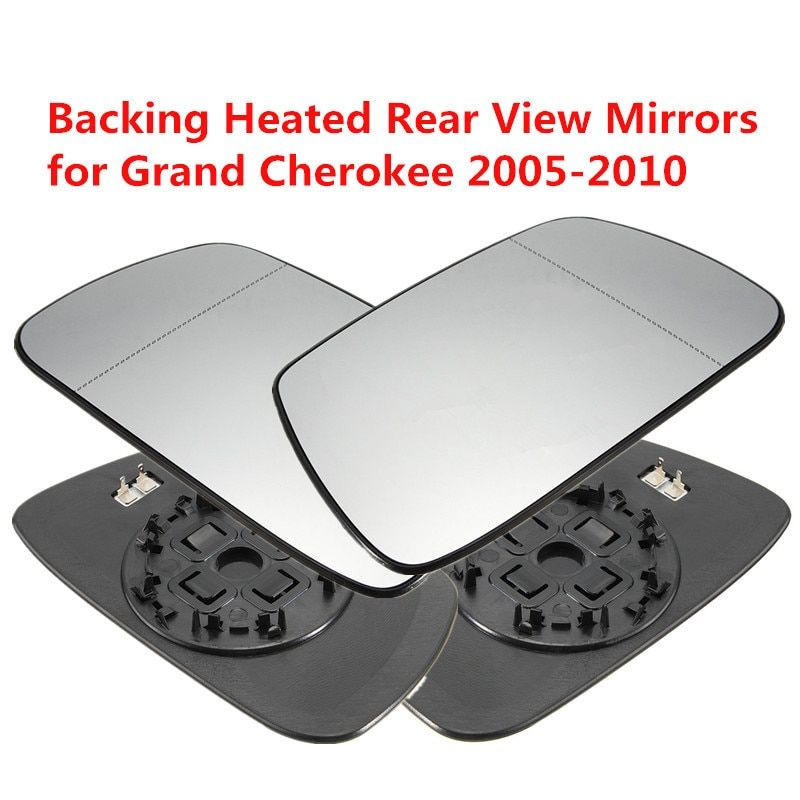 Left Right Side Outside Heated Rear View Mirror Car Exterior Mirrors Heating <font><b>Rearview</b></font> Mirror Glass for Jeep Grand Cherokee 02-05