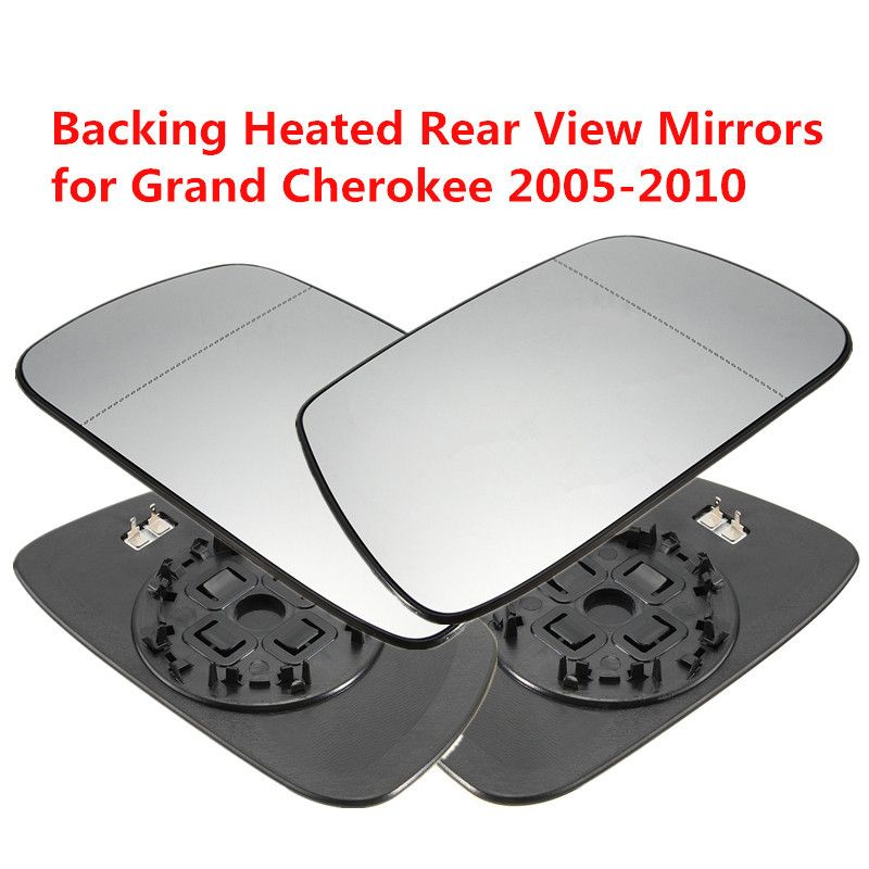 Left Right Side Outside Heated Rear View Mirror Car Exterior Mirrors Heating Rearview Mirror Glass for Jeep Grand Cherokee 02-05
